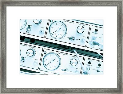 Control Panel With Dials Framed Print by Wladimir Bulgar