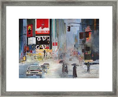 Cool New York Framed Print