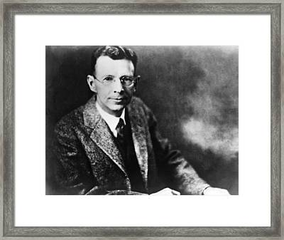 Coolidge X-ray Tube Inventor Framed Print by Underwood Archives