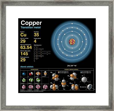 Copper Framed Print