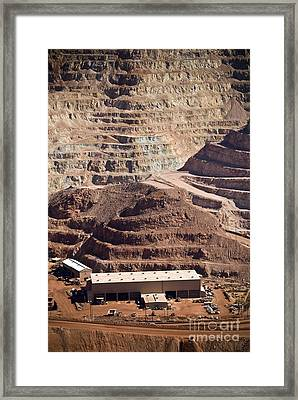 Copper Mine Buildings, Arizona, Usa Framed Print by Arno Massee