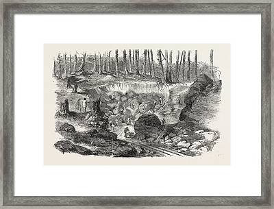 Copper Mine Or Quarry, Near Montreal, Canada Framed Print by Canadian School