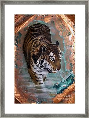 Copper Tiger I  Framed Print by Sandi Baker