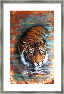 Copper Tiger II Framed Print by Sandi Baker