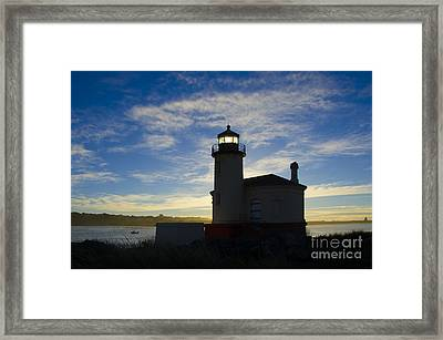 Ghost Light Coquille River Lighthouse Oregon 2 Framed Print by Bob Christopher