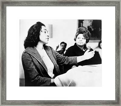Framed Print featuring the photograph Coretta Scott King (1927-2006) by Granger