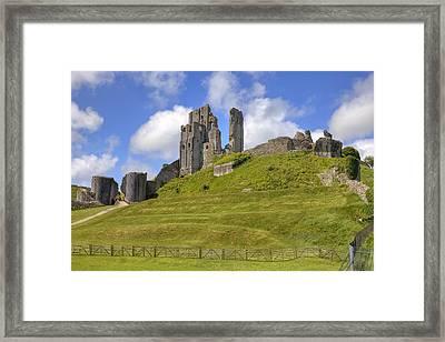 Corfe Castle Framed Print by Joana Kruse