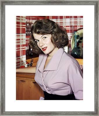 Corinne Calvet Framed Print by Silver Screen