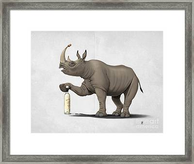 Cork It Durer Wordless Framed Print by Rob Snow