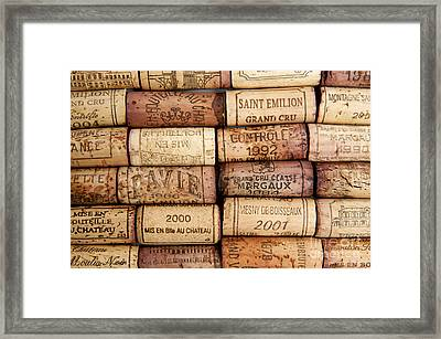 Corks Framed Print by Bernard Jaubert