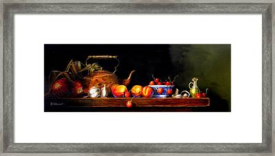 Framed Print featuring the painting Cornucopia 2 by Barry Williamson
