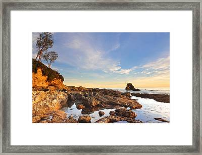 Corona Del Mar Beach Framed Print