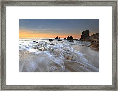 Corona Del Mar Sunrise Framed Print