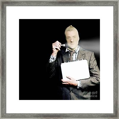 Corporate Criminal Stealing Business Documents Framed Print by Jorgo Photography - Wall Art Gallery
