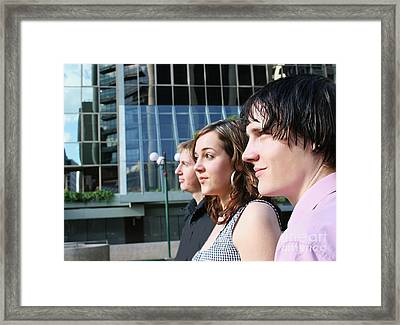 Corporate Lineup Framed Print by Jorgo Photography - Wall Art Gallery
