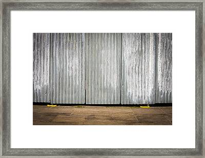 Corrugated Metal Framed Print