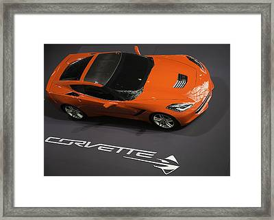 Corvette Stingray Framed Print by E Osmanoglu