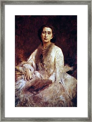 Cosima Wagner (1837-1930) Framed Print by Granger