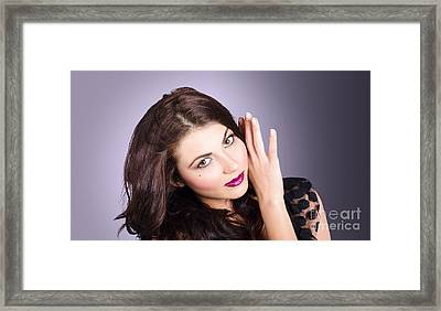 Cosmetic Beauty Portrait. Perfect Makeup Woman Framed Print by Jorgo Photography - Wall Art Gallery