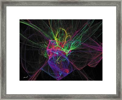 Cosmic Phantom Framed Print by The Art of Marsha Charlebois