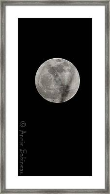 Cosmos Moon Framed Print by Anne Babineau