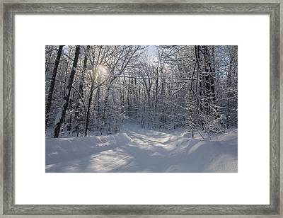 Cottage Country Winter Framed Print by Pat Speirs