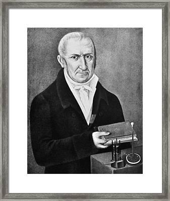 Count Alessandro Volta (1745-1827) Framed Print by Granger