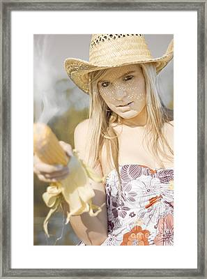 Country And Western Corn Slinger Framed Print