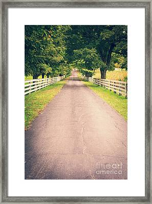 Country Back Roads Framed Print