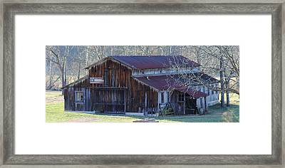 Country Dairy Barn Framed Print by Houston Haynes