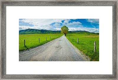 Country Gravel Road Passing Framed Print