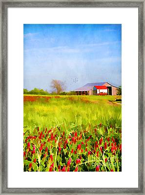 Country Kind Of Spring Framed Print by Darren Fisher