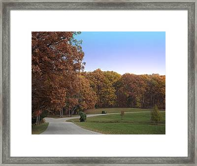 Framed Print featuring the photograph Country Road by Bill Woodstock