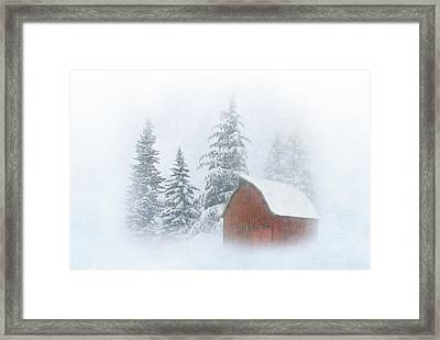 Country Winter-2 Framed Print by Angie Vogel