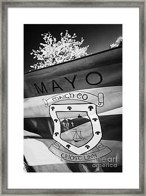 County Mayo Gaa County Flag Republic Of Ireland Framed Print by Joe Fox