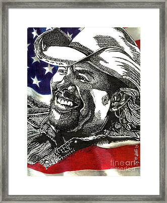 Courtesy Of The Red White And Blue Framed Print