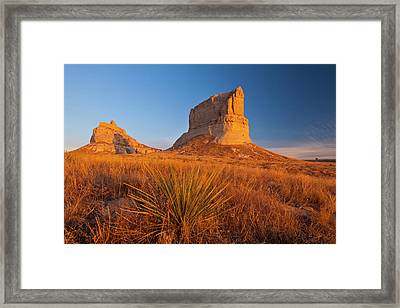 Courthouse And Jailhouse Rock Framed Print by Chuck Haney