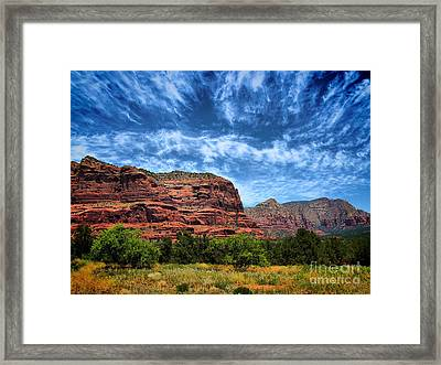 Courthouse Butte Sedona Arizona Framed Print by Amy Cicconi
