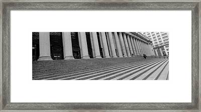 Courthouse Steps, Nyc, New York City Framed Print by Panoramic Images