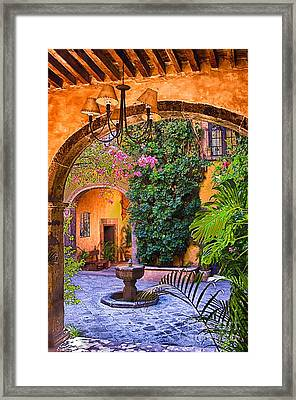 Courtyard Framed Print by Nicola Fiscarelli