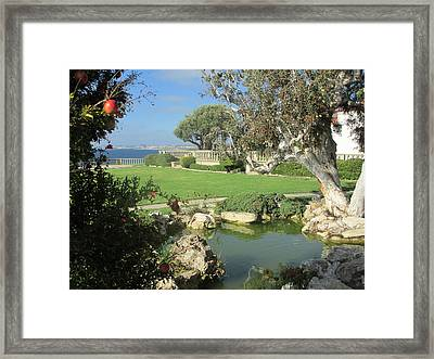 Courtyard On The Cliffs Framed Print