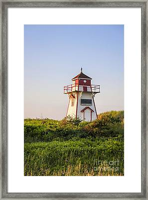 Covehead Harbour Lighthouse Framed Print