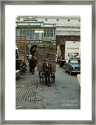 Covent Garden Market 1973 Framed Print by David Davies