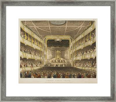 Covent Garden Theatre Framed Print