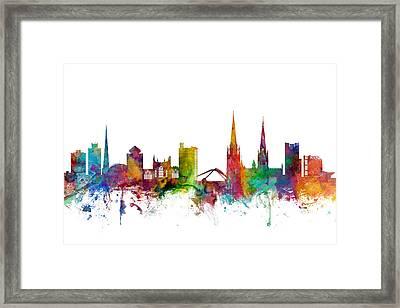 Coventry England Skyline Framed Print