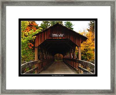 Covered Bridge At Allegany State Park Framed Print