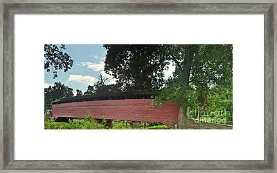 Covered Bridge Framed Print by Mike Baltzgar