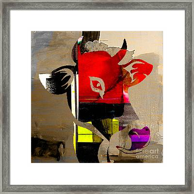 Cow Framed Print by Marvin Blaine