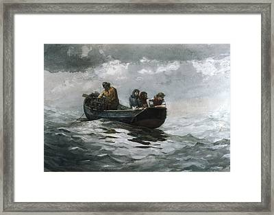 Crab Fishing Framed Print by Celestial Images