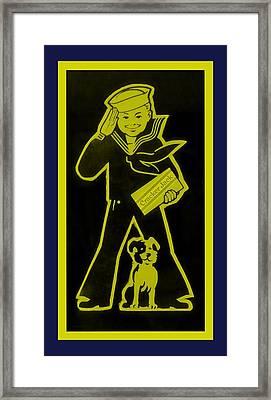 Crackerjack Navy Colors Framed Print by Rob Hans